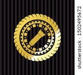 flashlight icon inside gold... | Shutterstock .eps vector #1502495672