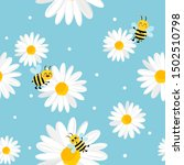 Daisy Seamless Pattern With...