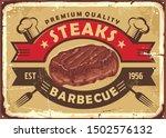 steak house old sign design... | Shutterstock .eps vector #1502576132