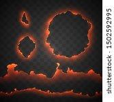 edge of burning paper hole | Shutterstock .eps vector #1502592995