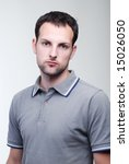 portrait of young fellow... | Shutterstock . vector #15026050