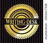 writing desk shiny badge.... | Shutterstock .eps vector #1502617328