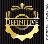 definitive golden badge or... | Shutterstock .eps vector #1502617502
