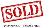 Sold Stamp. Sold Square Grunge...