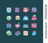 git box icon set | Shutterstock .eps vector #150263318