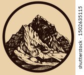 mountains shapes in the round...   Shutterstock .eps vector #1502635115