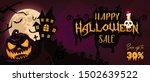 happy halloween sale banner... | Shutterstock .eps vector #1502639522