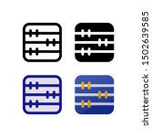 abacus logo icon design in four ...