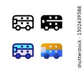 bus logo icon design in four...