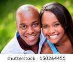 portrait of a beautiful couple... | Shutterstock . vector #150264455