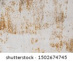 Dirty Painted Metal Surface As...