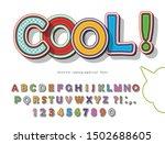 pop art comic font.  colorful...   Shutterstock .eps vector #1502688605