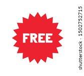 free vector label. red badge... | Shutterstock .eps vector #1502752715