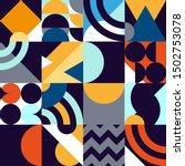 abstract geometric patten of... | Shutterstock .eps vector #1502753078
