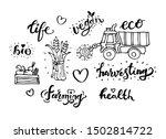 harvesting related typography... | Shutterstock .eps vector #1502814722