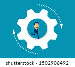 business person running inside... | Shutterstock .eps vector #1502906492