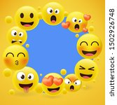cartoon emoji collection. set... | Shutterstock .eps vector #1502926748