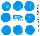 round blue marker vector color... | Shutterstock .eps vector #150293306