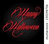 creative happy halloween...   Shutterstock .eps vector #150298706