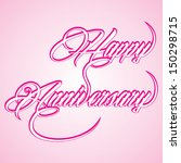 happy anniversary background... | Shutterstock .eps vector #150298715