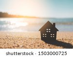 Small Home Model On Sunset...