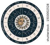 vector circle of the zodiac... | Shutterstock .eps vector #1503002528