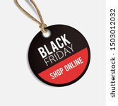 realistic black friday round... | Shutterstock .eps vector #1503012032