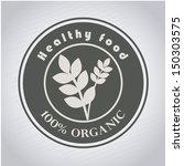 healthy food design over gray... | Shutterstock .eps vector #150303575