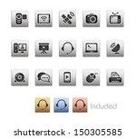 communication icons    metallic ... | Shutterstock .eps vector #150305585