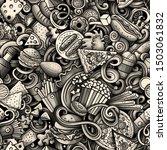 fastfood hand drawn doodles...   Shutterstock . vector #1503061832