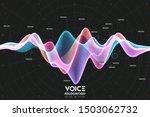 vector echo audio wavefrom.... | Shutterstock .eps vector #1503062732
