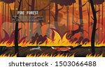 scary animals fox hare deer run ... | Shutterstock .eps vector #1503066488