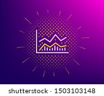 line chart icon. halftone... | Shutterstock .eps vector #1503103148