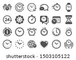 time and clock icons. timer ...