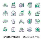 nature conservation green color ... | Shutterstock .eps vector #1503136748