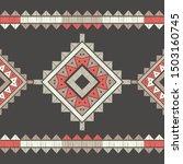 ethnic boho seamless pattern.... | Shutterstock .eps vector #1503160745