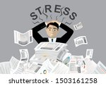 young stressed man have no... | Shutterstock .eps vector #1503161258