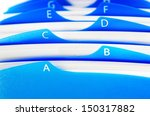 Blue Organizer By Letters...