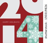 2014 new year greetings card.... | Shutterstock . vector #150319826