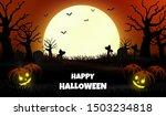 night halloween forest...   Shutterstock .eps vector #1503234818