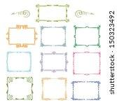 set of vintage ornamental... | Shutterstock .eps vector #150323492