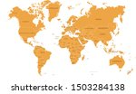 world map in four colors on...   Shutterstock .eps vector #1503284138
