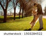 Dog  Golden Retriever  And Man...
