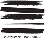 vector brush set. black lines... | Shutterstock .eps vector #1503298688