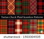 set tartan plaid scottish... | Shutterstock .eps vector #1503304535