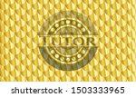 tutor shiny golden badge.... | Shutterstock .eps vector #1503333965