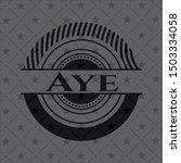 aye black badge. vector... | Shutterstock .eps vector #1503334058