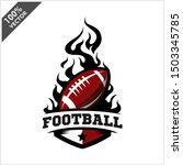 football ball flame badge logo... | Shutterstock .eps vector #1503345785