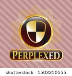 gold emblem or badge with... | Shutterstock .eps vector #1503350555