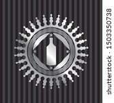 bottle icon inside silvery... | Shutterstock .eps vector #1503350738
